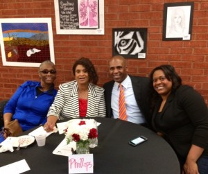 The Phillips family supporting inductee Joker Phillips.